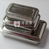 不锈钢有盖方盘(无孔)消毒盘304不锈钢材质